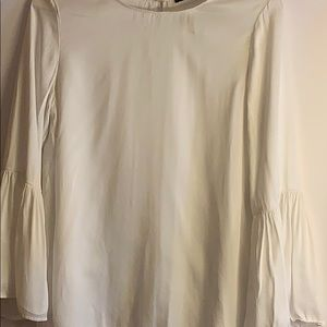 Zara cute white 3/4 bell sleeve boho blouse.